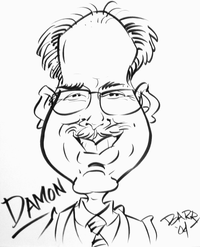 Damon caricature
